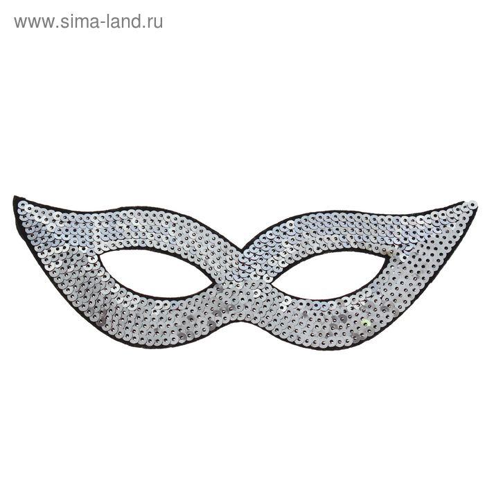 "Карнавальная маска ""Незнакомка"", цвет серебро"