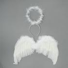 """Карнавальный набор """"Ангел"""", 2 предмета: нимб, крылья, цвет белый, 3-5 лет"""