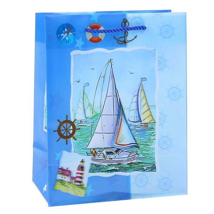"""Пакет пластиковый, 3D рисунок """"Корабли"""""""