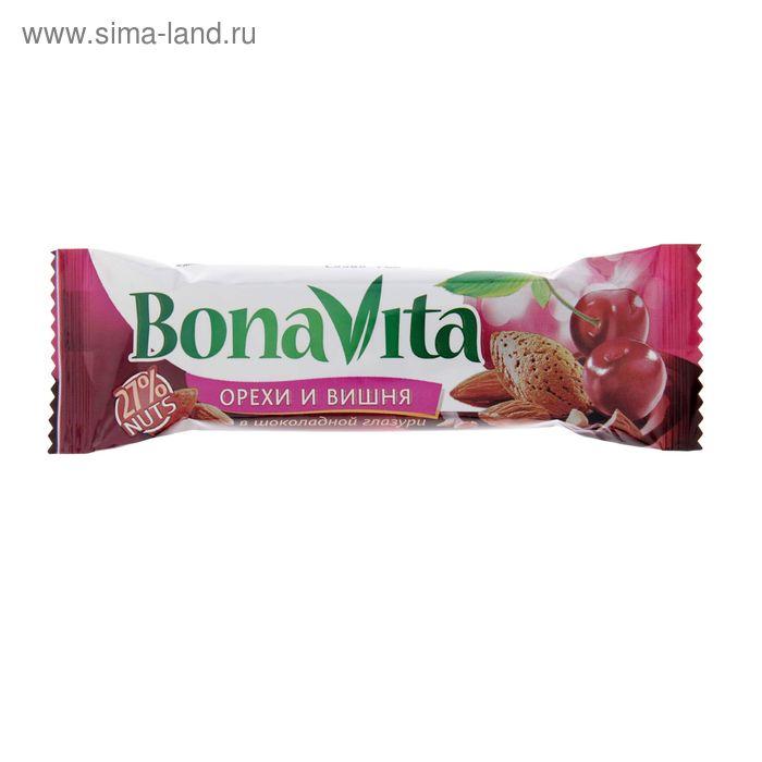 """Батончик ореховый """"Бона Вита"""" вишня в шоколадной глазури 35г/24шт"""