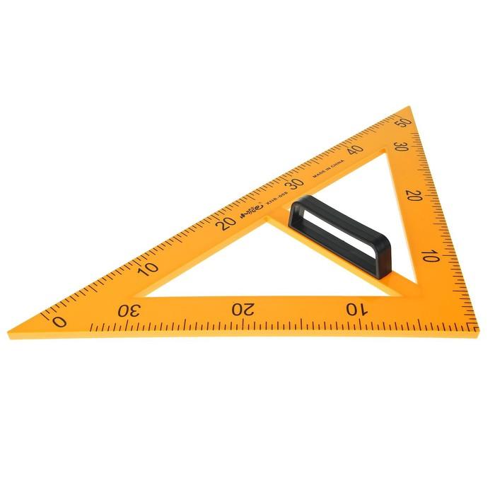 Треугольник для школьной доски с держателем прямоугольный 45градусов
