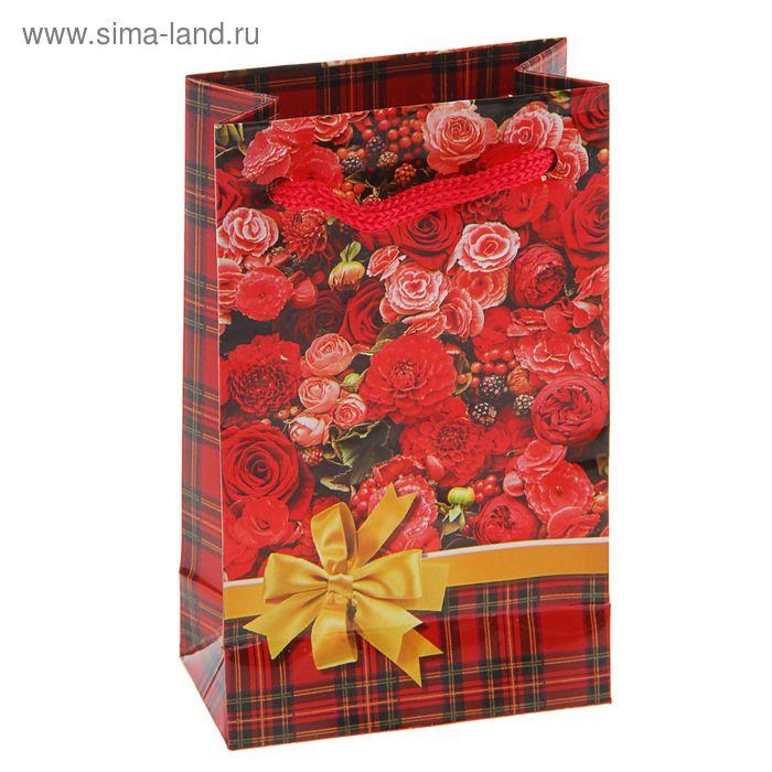 """Пакет подарочный """"Цветник"""" 12,3 x 7,4 x 4 см"""