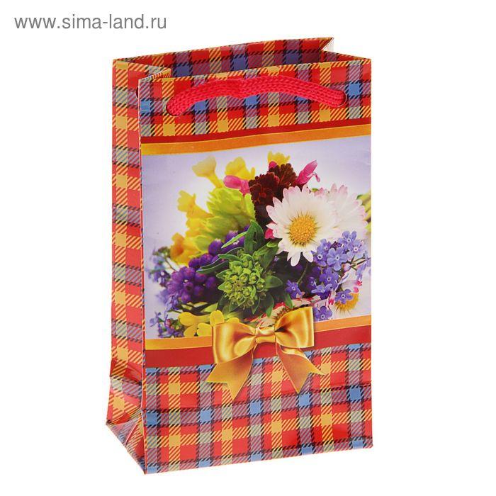 """Пакет подарочный """"Полевые цветы"""" 12,3 x 7,4 x 4 см"""