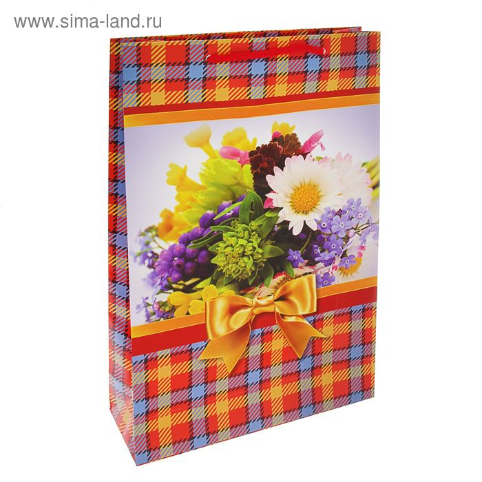 """Пакет подарочный """"Полевые цветы"""" 40,5 х 24,8 х 9 см"""