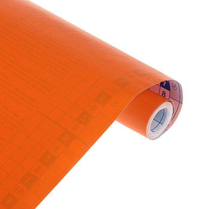 Пленка самоклеящаяся цветная 0.5*3 м Sadipal 100 мкм, Matt оранжевая 12243