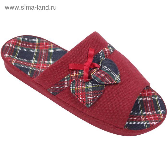 Тапочки женские, размер 36-40, цвет красный 125-6029