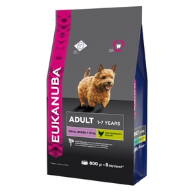 Сухой корм EUK Dog для взрослых собак мелких пород, 800 г.