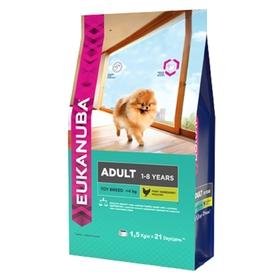 Сухой корм EUK Dog для взрослых собак миниатюрных пород, 1,5 кг.
