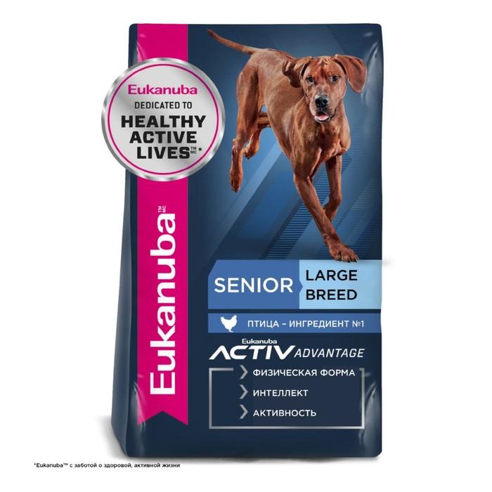 Сухой корм EUK Dog для пожилых собак крупных пород, 15 кг
