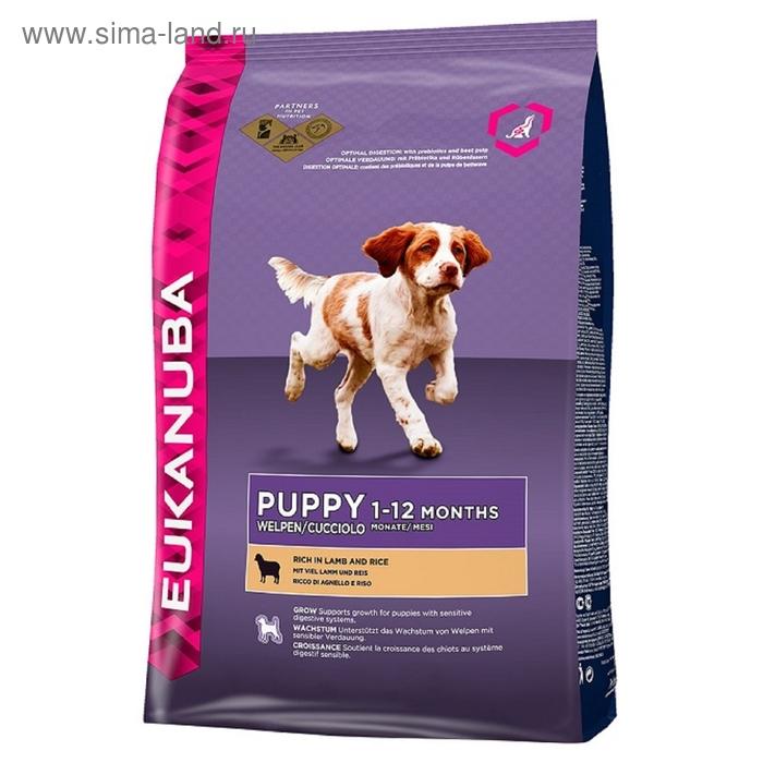 Сухой корм EUK Dog для щенков всех пород ягненок, 2,5 кг