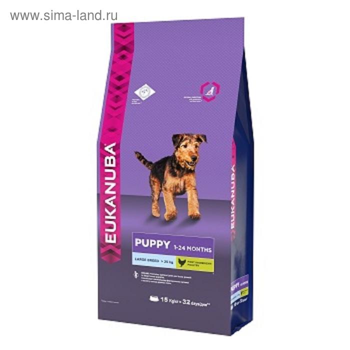 Сухой корм EUK Dog для щенков крупных пород, 15 кг