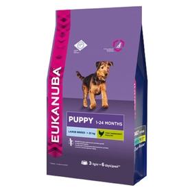 Сухой корм EUK Dog для щенков крупных пород, 3 кг.