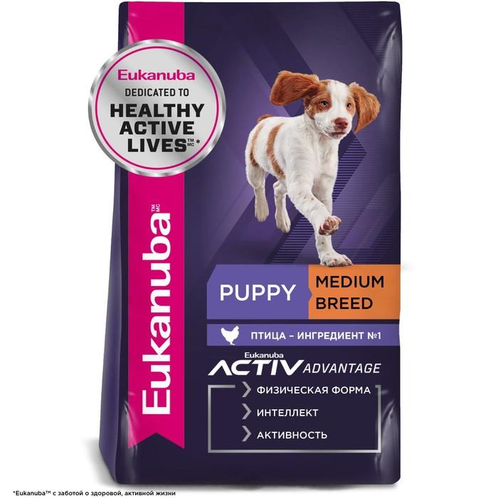 Сухой корм EUK Dog для щенков средних пород, 15 кг