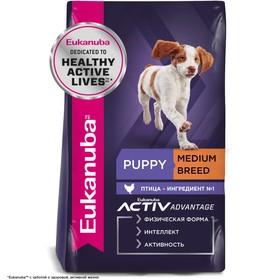Сухой корм EUK Dog для щенков средних пород, 3 кг.
