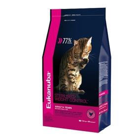 Сухой корм EUK Cat для взрослых кошек с избыточным весом и стерилизованных, 1,5 кг