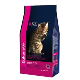 Сухой корм EUK Cat корм для взрослых кошек с избыточным весом и стерилизованных, 10 кг