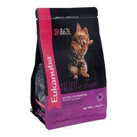 Сухой корм EUK Cat для котят, с домашней птицей, 400 г