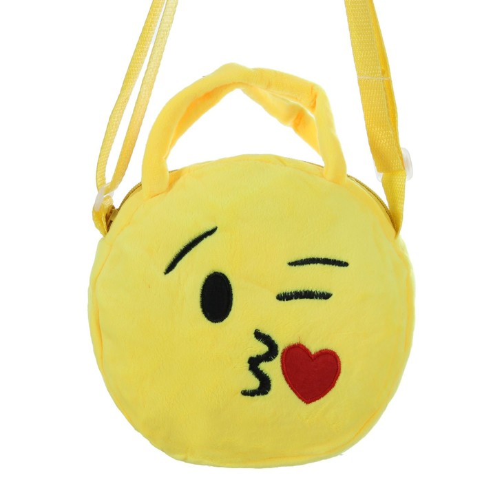 "Мягкая сумочка ""Смайл"" поцелуйчик"