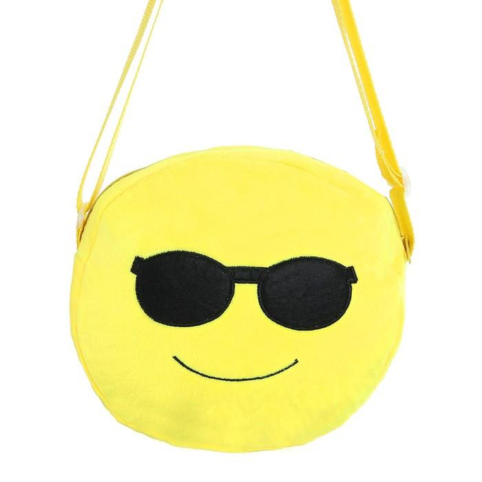 Мягкая сумочка «Смайлик», в очках