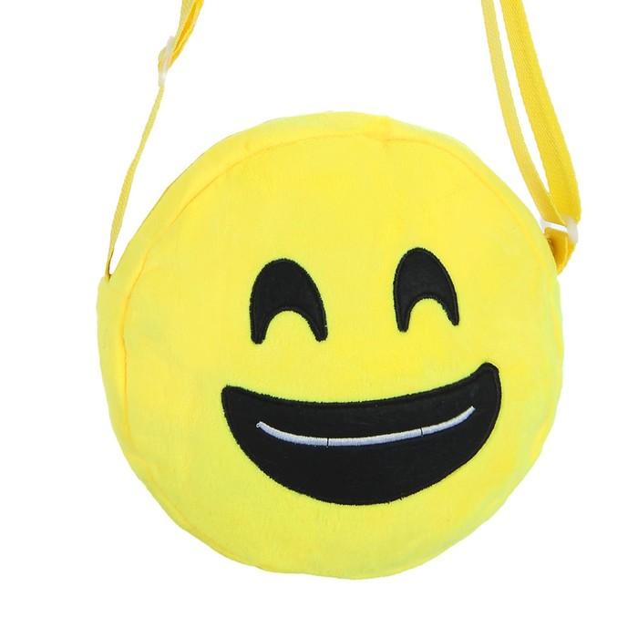 Мягкая сумочка «Смайлик», улыбается