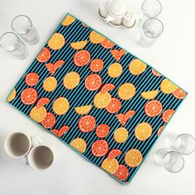 Салфетка для сушки посуды Доляна «Цитрусы», 38×51 см, микрофибра