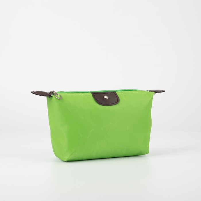 """Косметичка-сумочка на молнии """"Однотонная"""", 1 отдел, зелёная"""