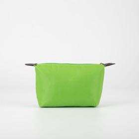 Косметичка дорожная, отдел на молнии, цвет зелёный - фото 1765467