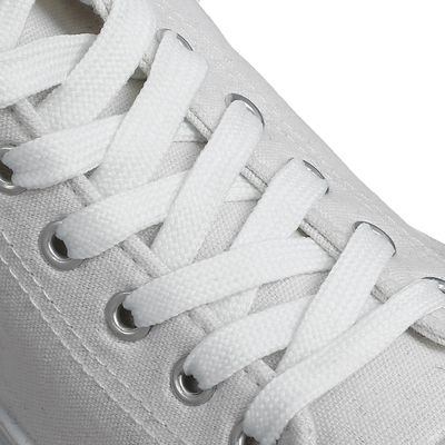 Шнурки для обуви, плоские, 13 мм, 160 см, цвет белый
