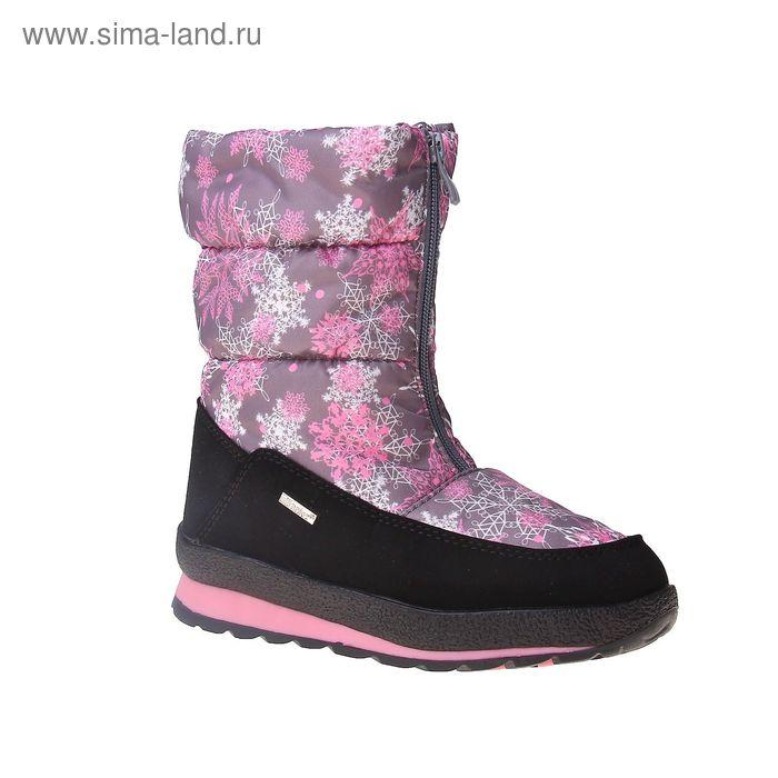 Сапоги для девочек SC-26818 (серый/розовый) (р. 33)