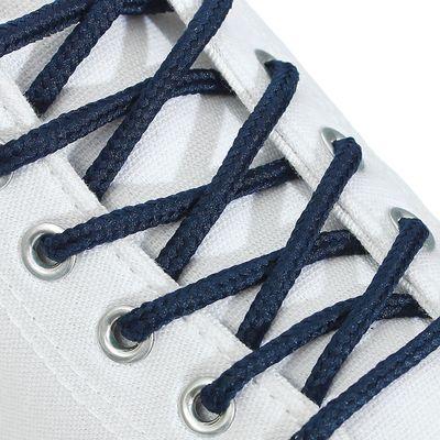 Шнурки для обуви, 5 мм, 180 см, пара, цвет синий