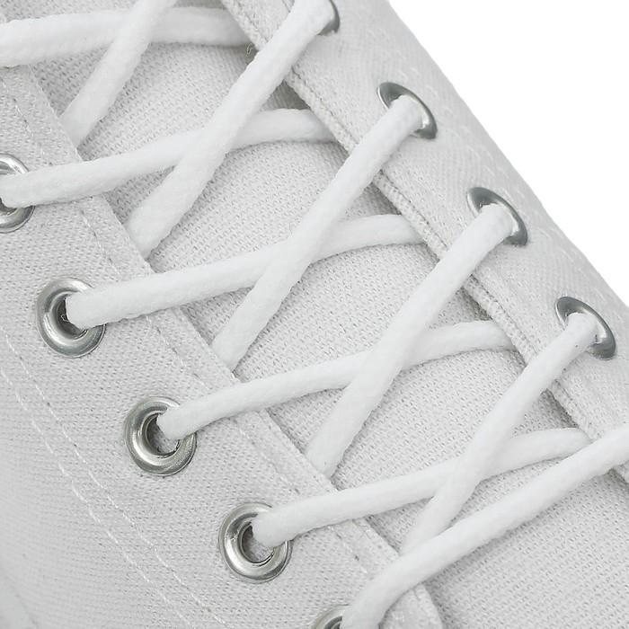 Шнурки для обуви круглые, ширина 3мм, 120см, цвет белый