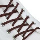 Шнурки для обуви, d = 3 мм, 160 см, пара, цвет коричневый