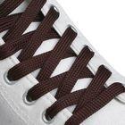 Шнурки для обуви плоские, ширина 12мм, 160см, цвет коричневый