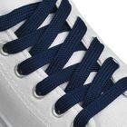 Шнурки для обуви плоские, ширина 12мм, 180см, цвет синий