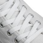 Шнурки для обуви плоские, ширина 12мм, 180см, цвет белый