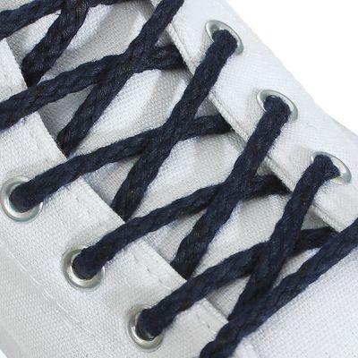 Шнурки для обуви, d = 5 мм, 120 см, пара, цвет синий