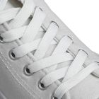 Шнурки для обуви, 13 мм, 180 см, пара. цвет белый