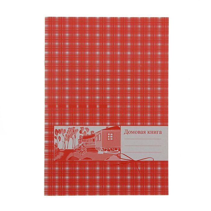Книга домовая А4, 20 листов, картонная обложка, блок офсет 65 г/м2
