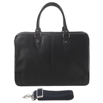 Портфель мужской, ва427-4205, 2 отдела на молнии, наружный карман, цвет чёрный
