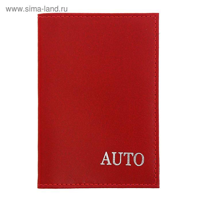Обложка для автодокументов, красный глянцевый