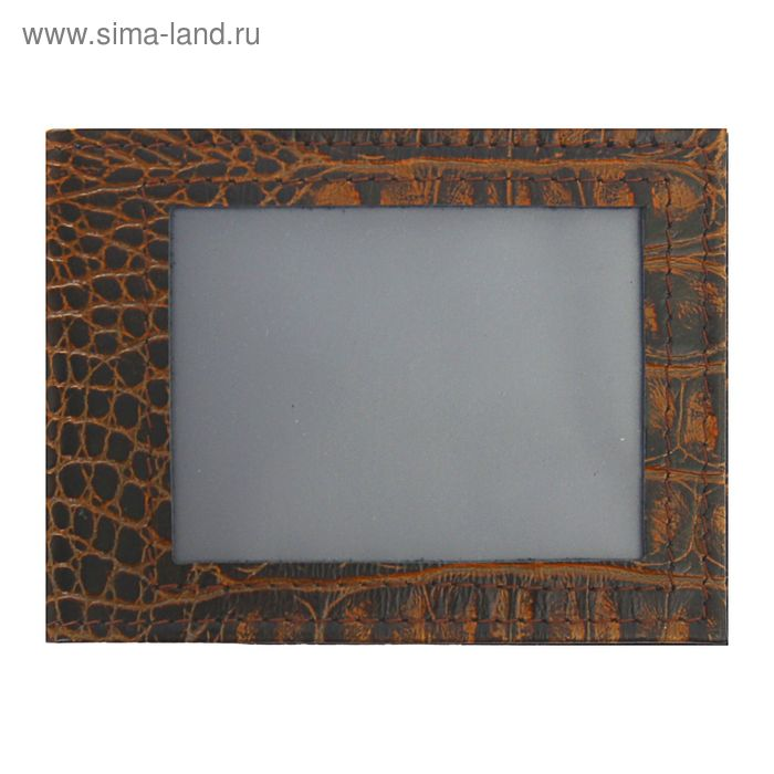 Обложка для удостоверения с окошком, коричневый кайман