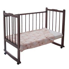 Одеяло детское байковое, размер 100х140 см, цвет бежевый 23200 Ош