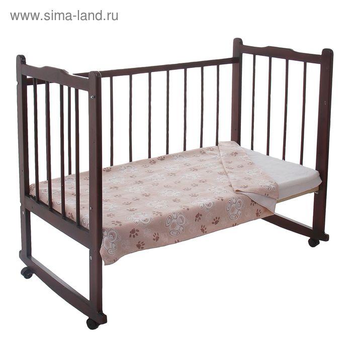 Одеяло детское байковое, размер 100х140 см, цвет бежевый 23200