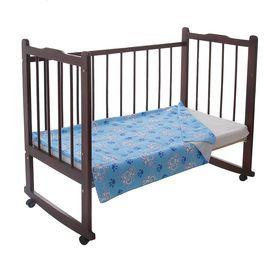 Одеяло детское байковое, размер 100х140 см, цвет голубой 23200 Ош
