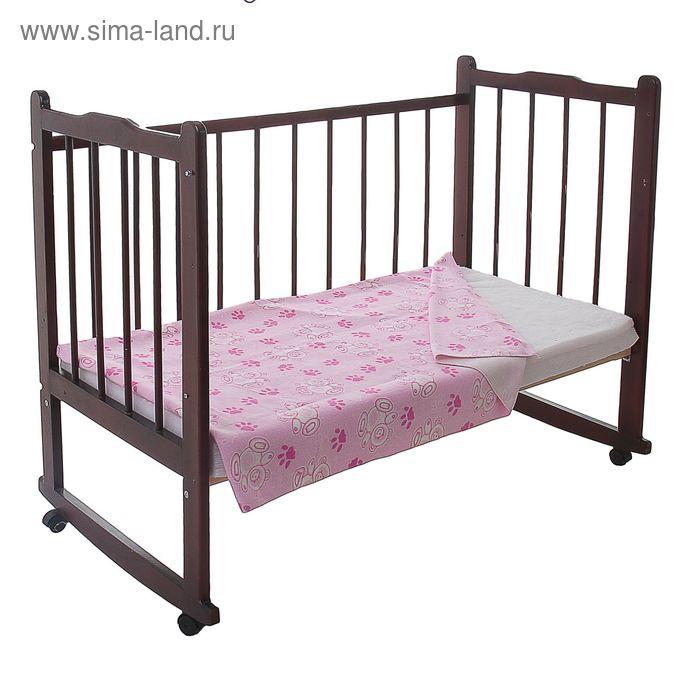 Одеяло детское байковое, размер 100х140 см, цвет розовый 23200