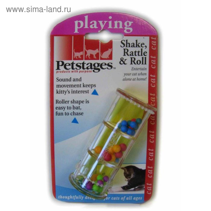 "Игрушка Petstages ""Погремушка"" для кошек  пластик"
