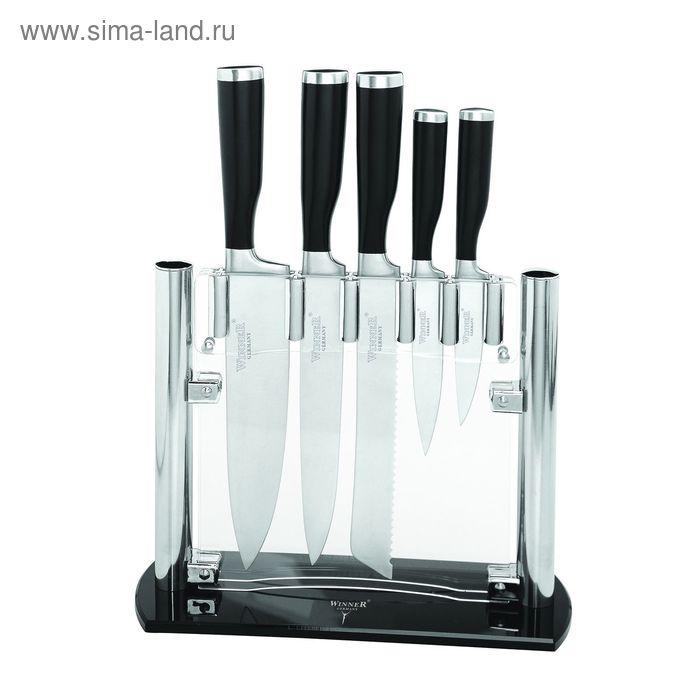 Набор ножей, 6 пр: поварской 34 см, д/нарезки 33 см, д/резки хлеба 33 см, универсальный 24 см, д/очи