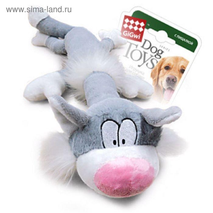 """Игрушка GiGwi """"Кот"""" для собак, с пищалкой,63 см"""