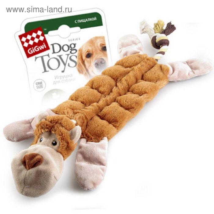"""Игрушка GiGwi """"Обезьяна"""" для собак,  с 19-ю пищалками, 34 см"""