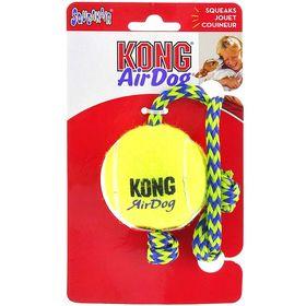 Теннисный мяч  Kong Air для собак, с канатом, средний